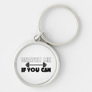 Snatch Me (weights) Silver-Colored Round Keychain