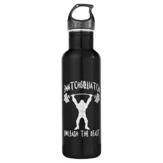 Snatchsquatch, Cartoon Big Foot, Beast, Funny Gym 710 Ml Water Bottle
