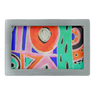 Snazzy Abstract Design Products Rectangular Belt Buckle