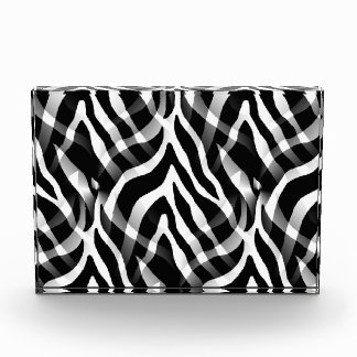 Snazzy Black and White Zebra Stripes Print