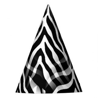 Snazzy Black and White Zebra Stripes Print Party Hat
