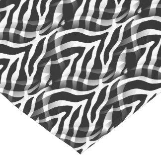 Snazzy Black and White Zebra Stripes Print Short Table Runner