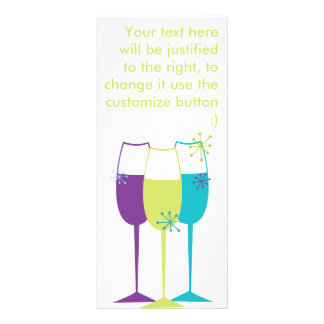 Snazzy Champagne Personalized Rack Card