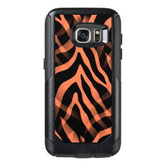 Snazzy Coral Zebra Stripes Print OtterBox Samsung Galaxy S7 Case