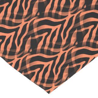 Snazzy Coral Zebra Stripes Print Short Table Runner