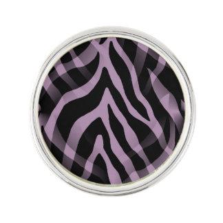 Snazzy Lavender Purple Zebra Stripes Print Lapel Pin