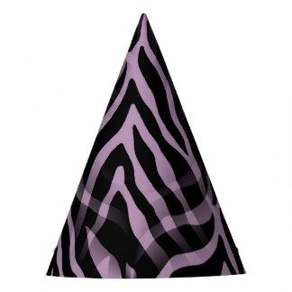 Snazzy Lavender Purple Zebra Stripes Print Party Hat