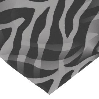 Snazzy Neutral Gray Zebra Stripes Print Long Table Runner