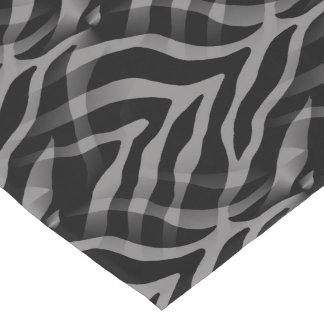 Snazzy Neutral Gray Zebra Stripes Print Short Table Runner