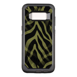 Snazzy Olive Green Zebra Stripes OtterBox Commuter Samsung Galaxy S8 Case