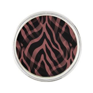 Snazzy Red Wine Zebra Stripes Print Lapel Pin
