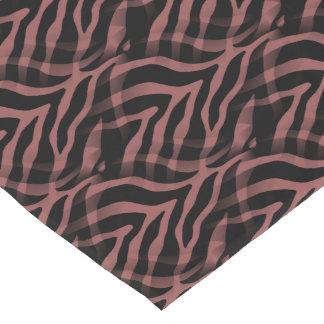 Snazzy Red Wine Zebra Stripes Print Short Table Runner