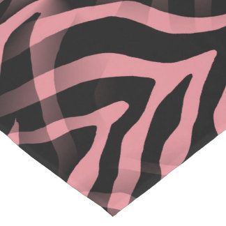 Snazzy Strawberry Pink Zebra Stripes Print Long Table Runner