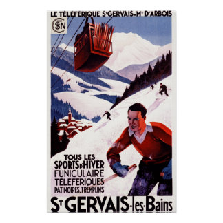 SNCF Railway Cable Car Promo Poster
