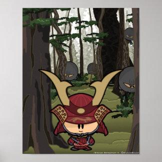 Sneak up on the Samurai Poster
