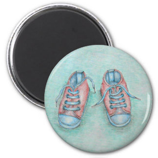 sneaker shoes 2 inch round magnet