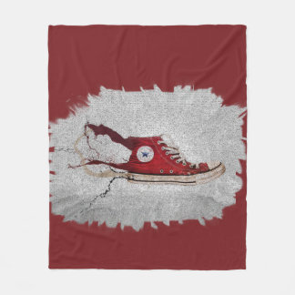 Sneaker Splat Fleece Blanket