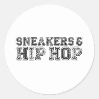 Sneakerhead Slogan Print Classic Round Sticker
