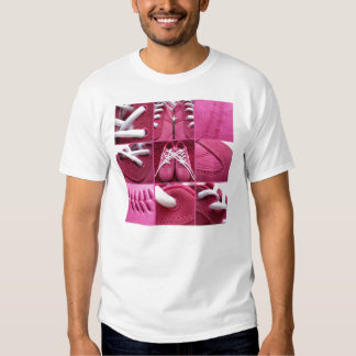 sneakers collage t-shirt