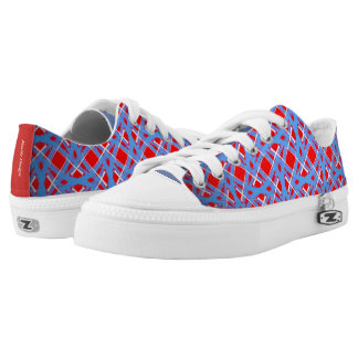 Sneakers Jimette Design blue red and white