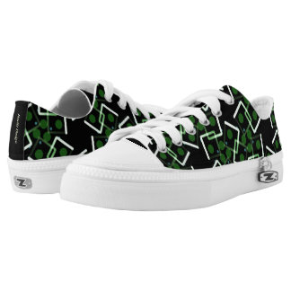 Sneakers Jimette Design green and black