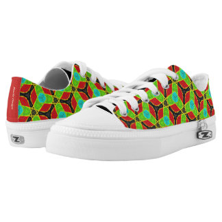 Sneakers Jimette Design green red and black