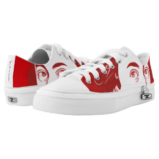 Sneakers with Mozart - Cartoon Style red/orange
