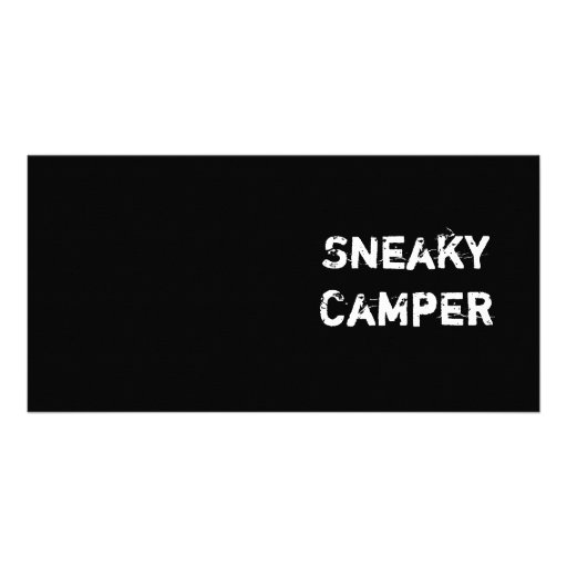 Sneaky Camper. Gamer Photo Card