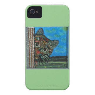 Sneaky Cat iPhone 4 Case-Mate Case
