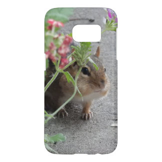 Sneaky Chipmunk in Lantana Flowers Samsung Galaxy S7 Case