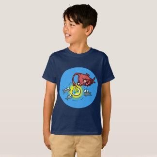 sneaky deep fish going to cheat cartoon T-Shirt