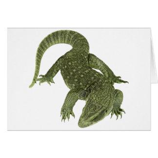 Sneaky Galapagos Iguana Card