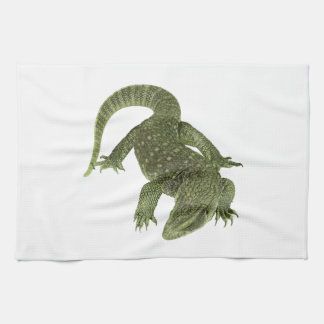 Sneaky Galapagos Iguana Kitchen Towel