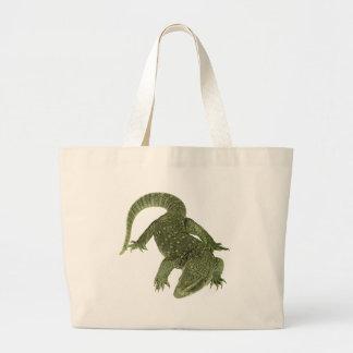 Sneaky Galapagos Iguana Large Tote Bag