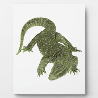 Sneaky Galapagos Iguana Plaque