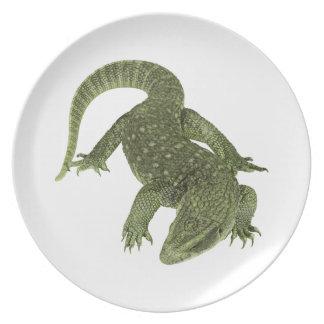 Sneaky Galapagos Iguana Plate
