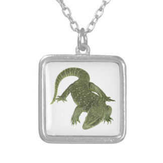 Sneaky Galapagos Iguana Silver Plated Necklace