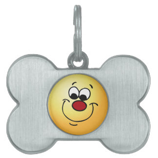 Sneaky Smiley Face Grumpey Pet Tags