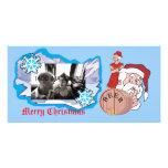 Sneaky Sneaky Santa, [Add Image] Customized Photo Card