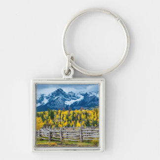 Sneffels Mountain Corral in the Fall - Colorado Keychain