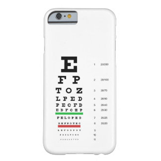 Snellen Eye Chart iPhone 6 case