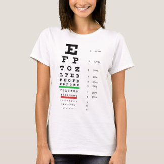 Snellen Eye Chart Ladies Baby Doll (Fitted) T-Shirt