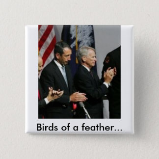 snford riley, Birds of a feather... 2 Inch Square Button