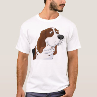 Sniffing Cartoon Basset Hound T-Shirt