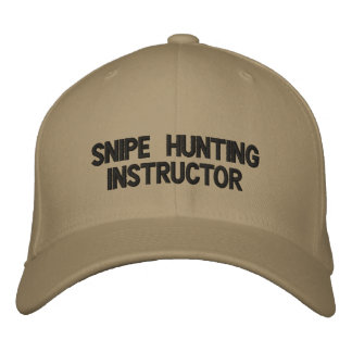 snipe hunting instructor hat