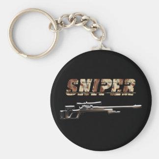 Sniper Basic Round Button Keychain
