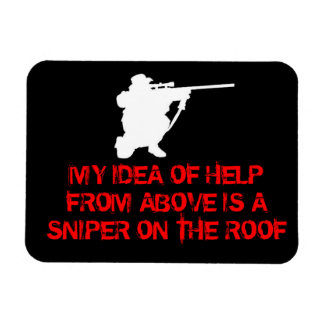 Sniper - Help From Above - Fridge Magnet