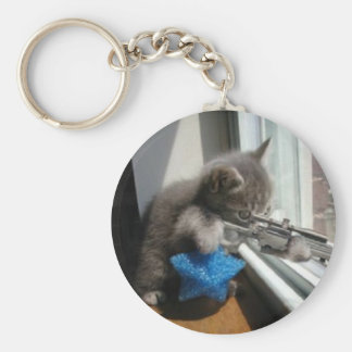 SNIPER KITTY KEYCHAIN