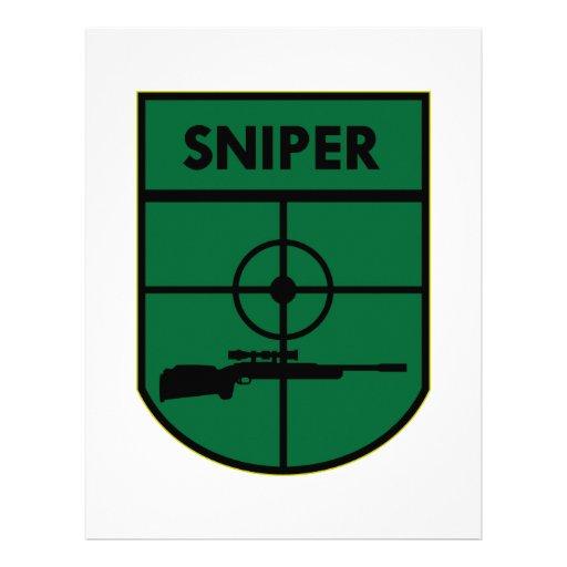 Sniper Patch Customized Letterhead
