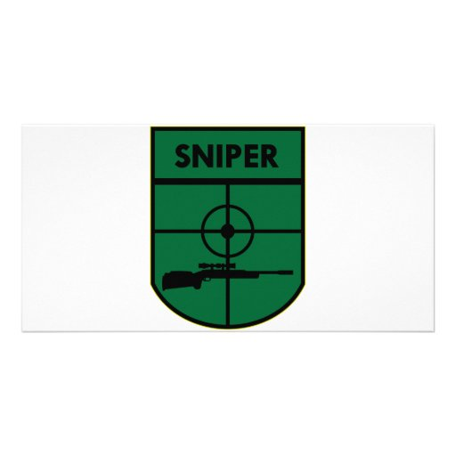 Sniper Patch Customized Photo Card